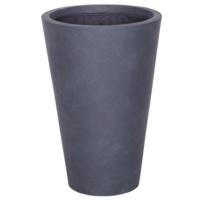 Yuvarlak Saksı Granit Renk L 50x70 Cm
