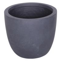 Yuvarlak Saksı Granit Renk M 30x35 Cm