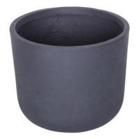 Yuvarlak Saksı Granit Renk L 28x33 Cm