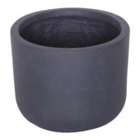 Yuvarlak Saksı Granit Renk S 19x23 Cm