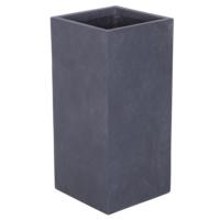 Uzun Saksı Granit Renk M 34x70 Cm