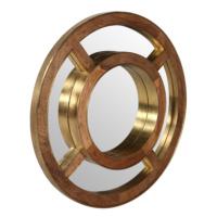 Metal Altın Renk Ayna 90 Cm
