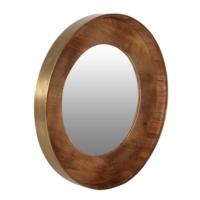 Ahşap Altın Renk Ayna 82 Cm
