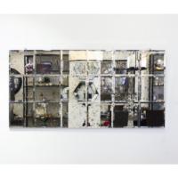 Antik Kareli Dikdörtgen Ayna 140x70 Cm