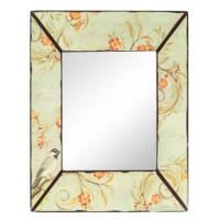 Çiçek Desenli Ahşap Çerçeveli Ayna