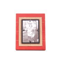Kumaş Kaplı Kırmızı Fotoğraf Çerçevesi