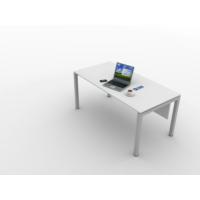 Kenyap 820787 Rena Metal Ayaklı Masa 160 cm-Beyaz-Tip 1