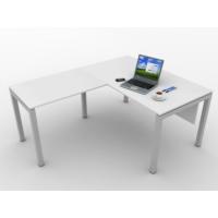 Kenyap 820886 Rena Metal Ayaklı Etajerli 140 cm Masa Beyaz-Tip 1