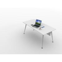 Kenyap 820930 Sera Metal Ayaklı Ofis Masası-160 cm-Beyaz- Tip 3