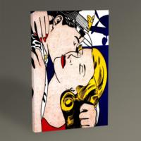 Tablo360 Roy Lichtenstein The Kiss Tablo 45 x 30