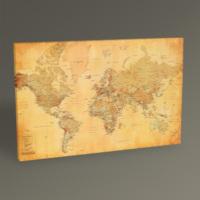 Tablo360 Dünya Haritası Tablo 45 x 30