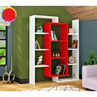 Rafline Luce Kitaplık - Kırmızı