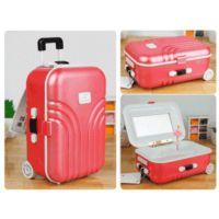 Toptancı Kapında Bavul Tasarımlı Müzik Ve Takı Kutusu - Kırmızı