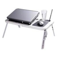 Toptancı Kapında Portatif Katlanabilir Soğutuculu Laptop Sehpası