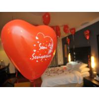 Toptancı Kapında Seni Seviyorum Yazılı Kalp Balonları 50 Adet