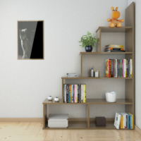 Eyibil Mobilya Modern 5 Raflı Kitaplık (Derinlik 28 Cm)