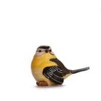 Alara Home Dekoratif Kuş Biblo- Büyük Sarı Kahverengi