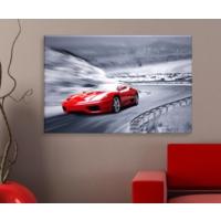 Artcanvas Kırmızı Araba Dekoratif Kanvas Tablo -50x70 cm