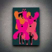 Zoodesignstudio Kanvas Tablo -4 - 80X120