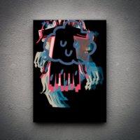 Zoodesignstudio Kanvas Tablo Hayvan Figür-2