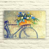 Fotocron Mavi Sepetli Bisiklet Tablo 24X34 Cm