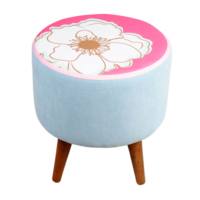 Dolce Home Colours And Flowers Puf - Mavi
