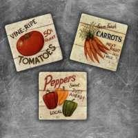 Oscar Stone Vegetables Magnet
