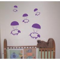 Dekorjinal Mor Koyunlar Çocuk Sticker - Ncc52