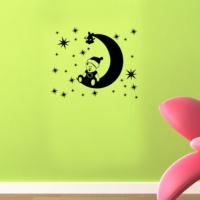 Ay Ve Yıldız Duvar Sticker