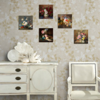 Dekorjinal Çiçekler 5 Parçalı Dekoratif Tablo -Utb040