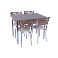 """Mutfak Masa Sandalye Takımı """"Açılır"""" +4 Sandalyeli Samba"""