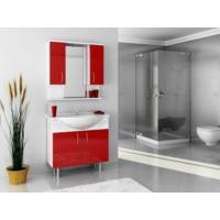 Bestline Auraline Vira 86 Banyo Dolabı - Kırmızı Beyaz