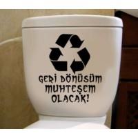 Tuvalet Sticker Geri Dönüşüm