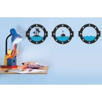 Dekorjinal Denizci Duvar Sticker Gemi Pencereleri - Kst27