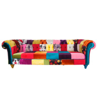 3A Mobilya Patchwork Chesterfield Kanepe