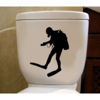 Tuvalet Sticker Dalgıç