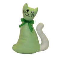 Cats by Luyano Kedi Kapı Önü Stopper - Yeşil
