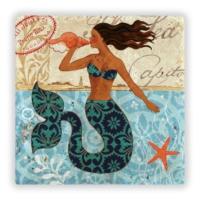 Oscar Stone Mermaid Taş Tablo