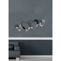 Dekoratif Kırılmaz Ayna İçiçe Kalpler