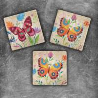 Oscar Stone Color Butterfly Magnet
