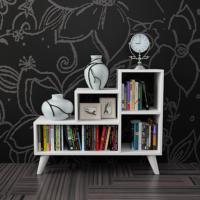 Evmanya Haus Retro Kitaplık - Beyaz