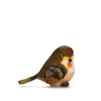 Alara Home Dekoratif Kuş Biblo- Büyük Kahverengi