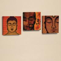 Dekorjinal 3'Lü Kanvas Tablo Seti Buda -D-Ahm044
