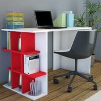 Minar Plus Çalışma Masası - Beyaz-Kırmızı
