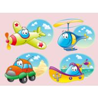Dekorjinal Ulaşım Araçları Uçaklar Çocuk Sticker - Kd38