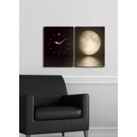 2 Parça Kanvas Saat Ay Manzarası