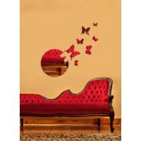 Uçuşan Kelebekler Dekoratif Kırılmaz Ayna Saat