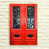 Fotocron Kırmızı Kapı Tablo 24X34 Cm