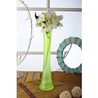 Gold Case Yeşil Cam Vazolu Beyaz Çiçek Bymst71