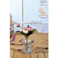 Gold Case Sütlük Tipi Cam Vazolu Çiçek Lila Bymst105